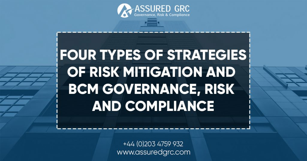 Types of strategies for Risk Mitigation and BCM Governance, Risk and Compliance